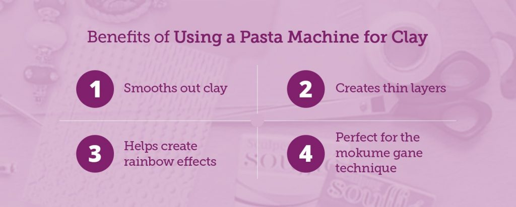 the benefits of using a pasta machine for polymer clay