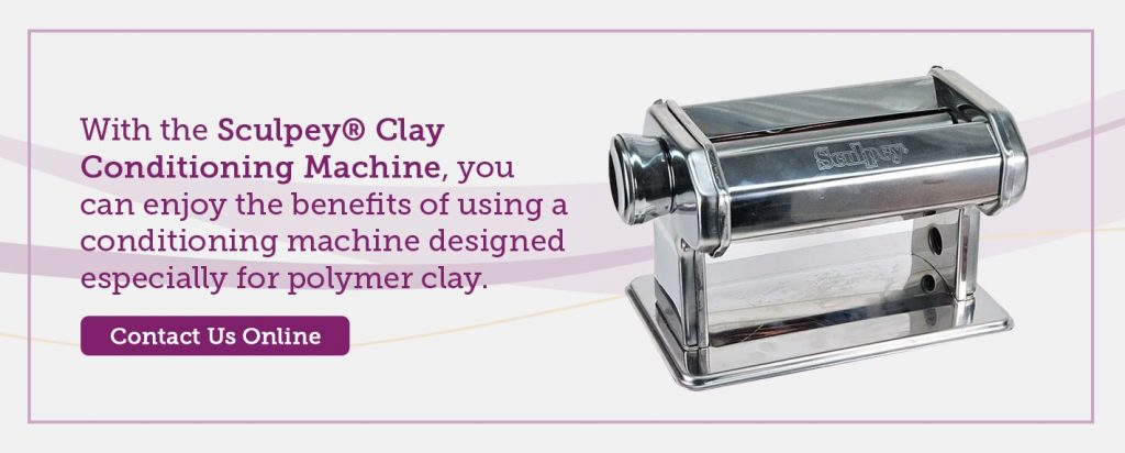 check out the sculpey clay conditioning machine