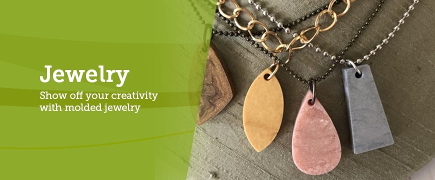 show off creativity with clay molded jewelry