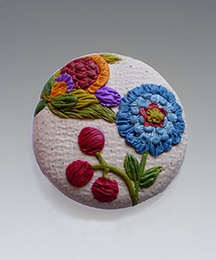 Clay Embroidery...using Sculpey Soufflé!