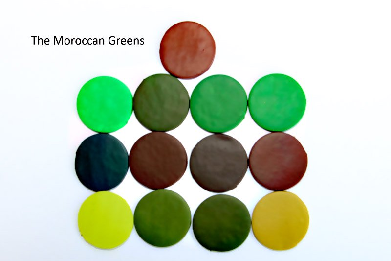 New Color Tuesday! The Moroccan Greens