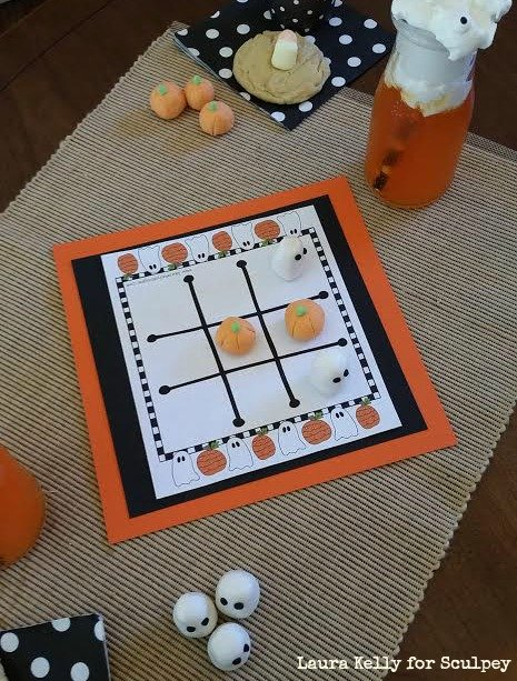 Boo! It's Claytime Playtime with Halloween Tic Tac Toe