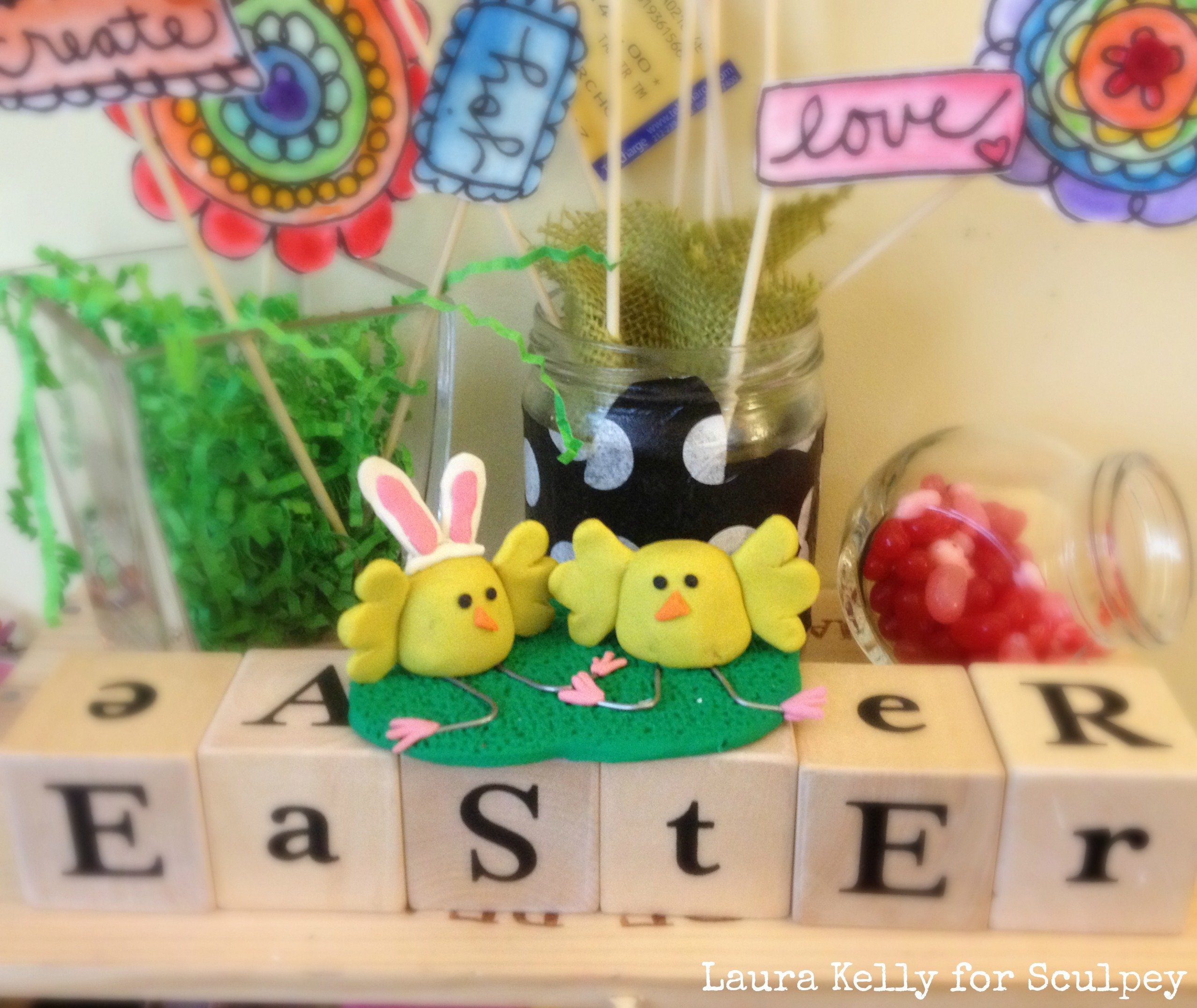 Adorable Clay Spring Chick Decorations