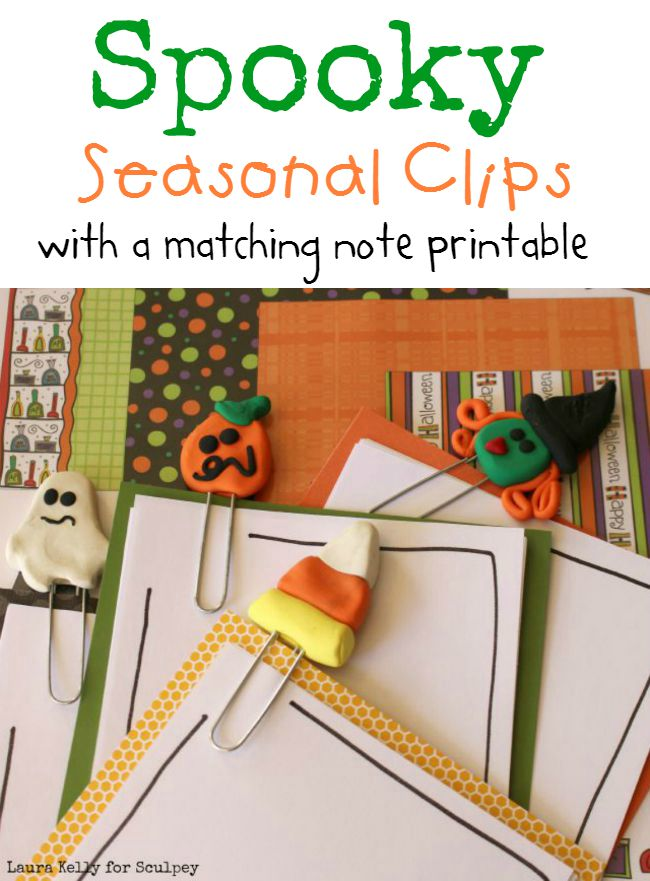 Spooky Note Clips with a Matching Printable