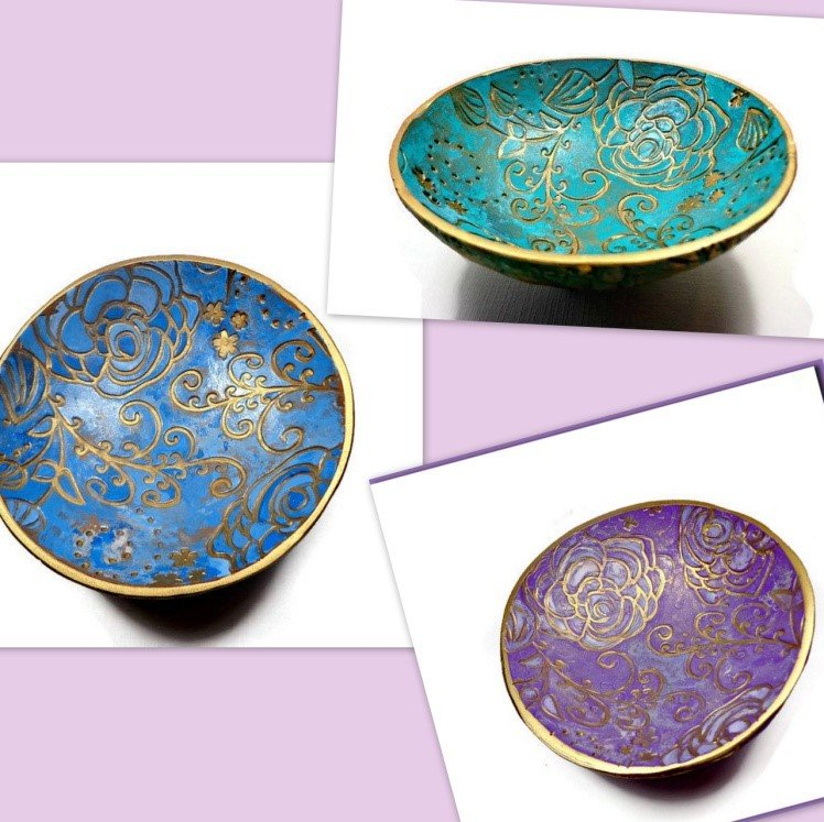 Landscape Texture Sheets- Inspiration to Create Ring Dishes by Sherri Kellberg