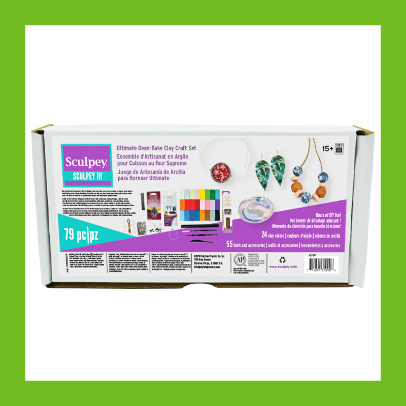Sculpey Ultimate Oven-Bake Clay Craft Set - 79 pieces of clay, accessories, tools and more to get crafting today!