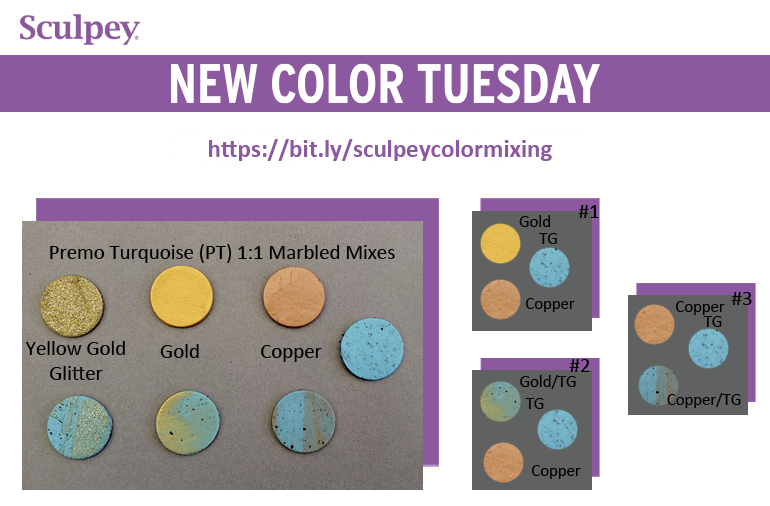 New Color Tuesday! Introducing Premo™ Turquoise Granite- Pt 1