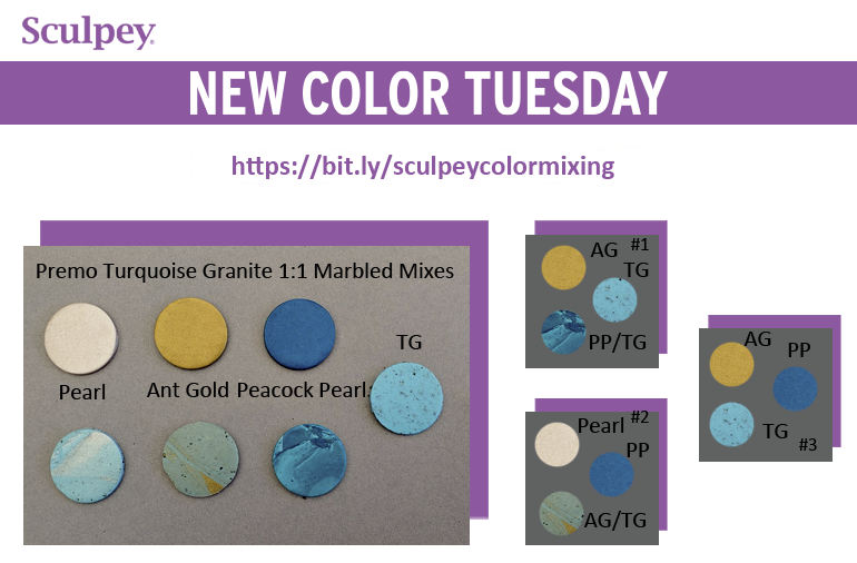 New Color Tuesday! Introducing Premo™ Turquoise Granite- Pt 2