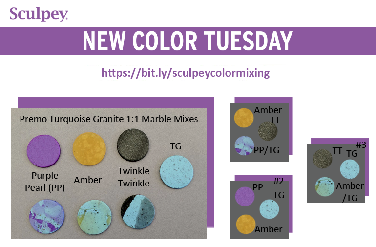 New Color Tuesday! Introducing Premo™ Turquoise Granite- Pt 3