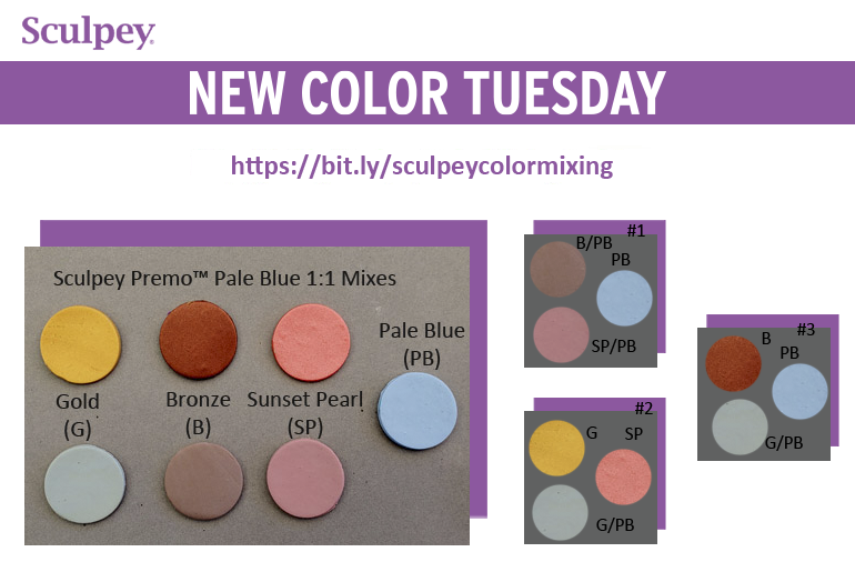 New Color Tuesday! Introducing Premo Pale Blue - Pt 3