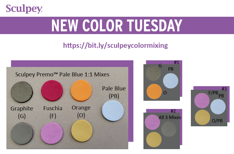 New Color Tuesday! Introducing Premo Pale Blue- Pt 4