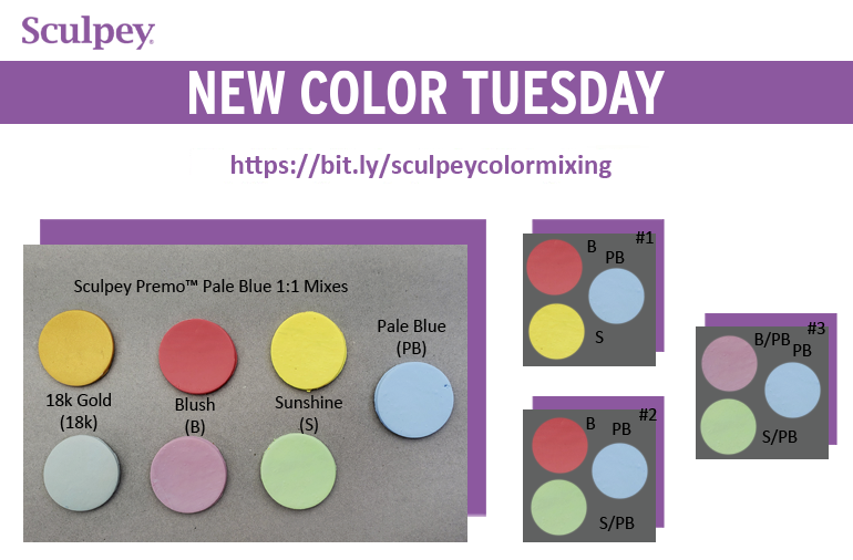 New Color Tuesday! Introducing Premo Pale Blue -Pt 1