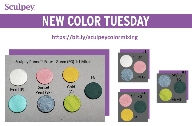 New Color Tuesday! Introducing Sculpey Premo™ Forest Green - Pt 2