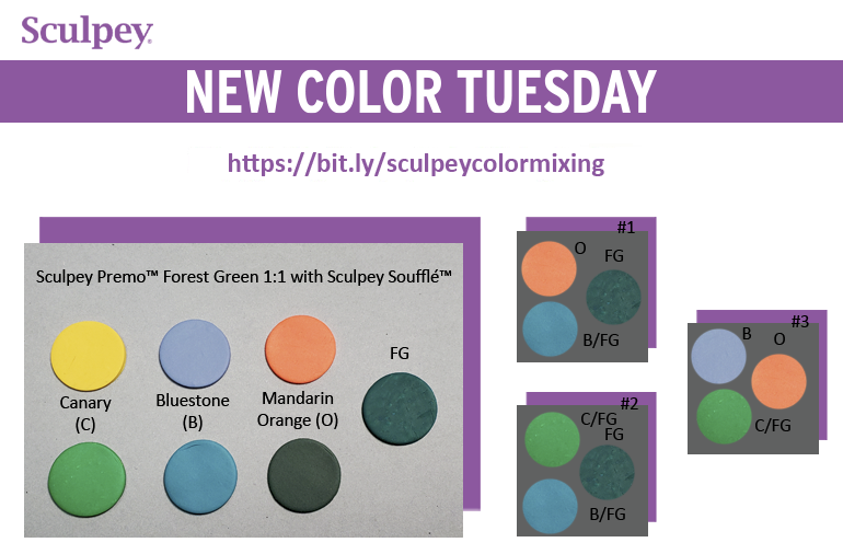 New Color Tuesday! Introducing Sculpey Premo™ Forest Green - Pt 4