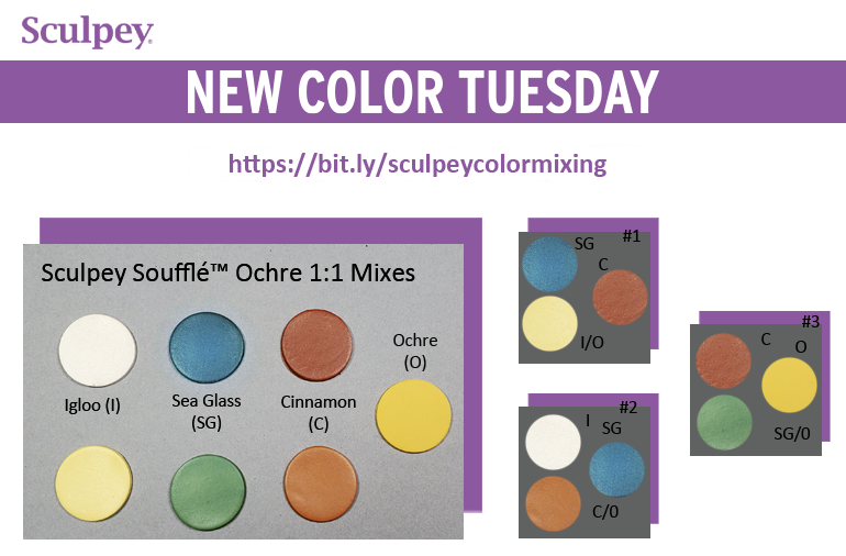 New Color Tuesday! Introducing Sculpey Soufflé™ Yellow Ochre - Pt 1