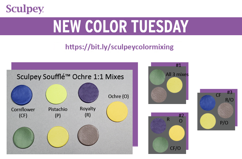New Color Tuesday! Introducing Sculpey Soufflé™ Yellow Ochre - Pt 2