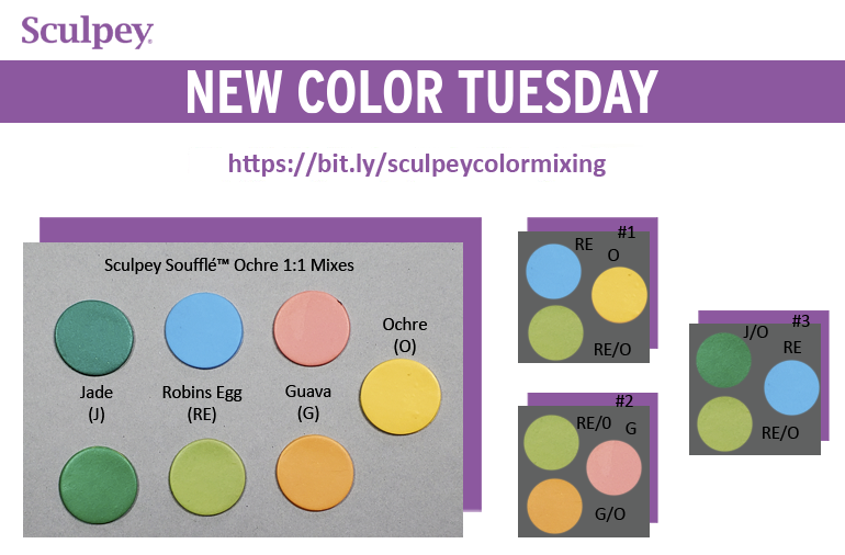 New Color Tuesday! Introducing Sculpey Soufflé™ Yellow Ochre- Pt 4
