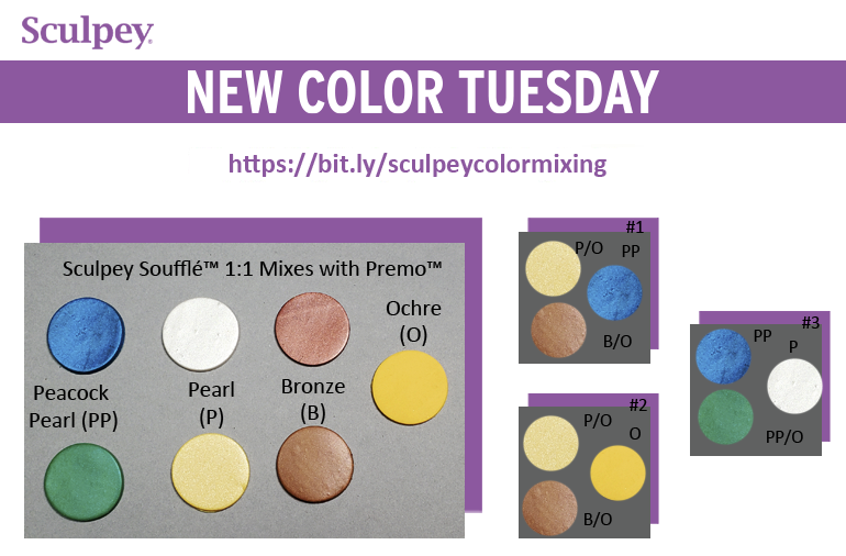 New Color Tuesday! Introducing Sculpey Soufflé™ Yellow Ochre- Pt 5