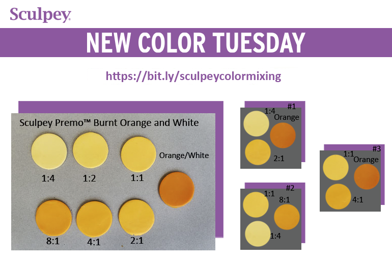 New Color Tuesday! Introducing Sculpey Premo™ Burnt Orange-Pt. 1