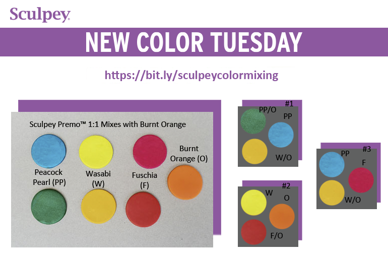 New Color Tuesday! Introducing Sculpey Premo™ Burnt Orange-Pt. 2