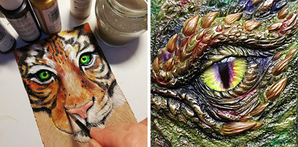 Using Mixed Media with Polymer Clay